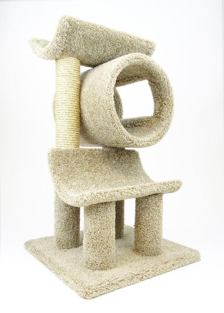 New Cat Condos 120003-Beige Play Gym Cat Tree