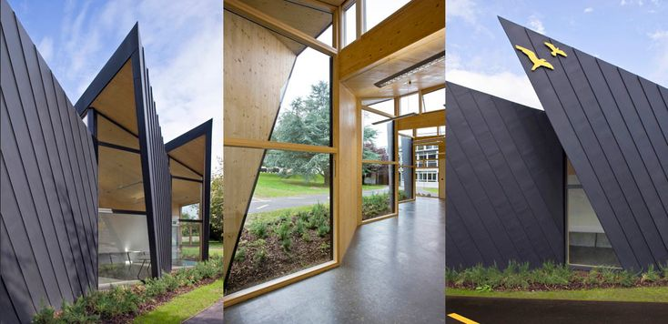 Falmouth Shool, design by Urban Salon and built from KLH cross-laminated timber.