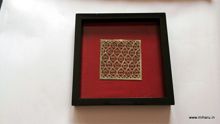Handcrafted Wooden Tray with Dhokra (Brass) ornamentation. Unbelievable hand work with uniformity in designs by talented artisans of Bengal, From MIHARU DESIGNS
