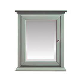 Avanity Mercer 24-In X 28-In Rectangle Surface Poplar Mirrored Wood Medicine Cabinet Mercer-Mc24-Sg