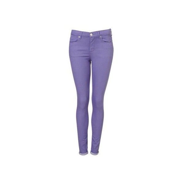 (72) MOTO Lavender Supersoft Skinny Leigh Jean - Jeans - Clothing ❤ liked on Polyvore featuring jeans, super skinny jeans, purple skinny jeans, skinny leg jeans, light purple jeans and lavender jeans