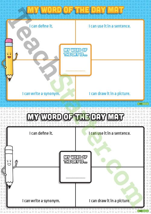 Teaching Resource: A fun worksheet to use in the classroom when building vocabulary.