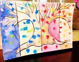Αποτέλεσμα εικόνας για kindergarten four season  crafts