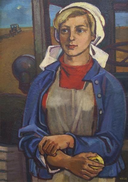 Junge Genossenschaftsbäuerin. Womacka, Walter (1925-2010)