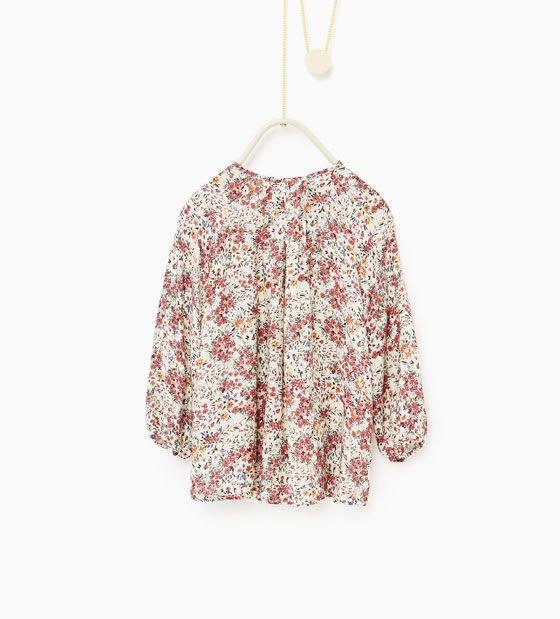 Afbeelding 2 van Wijde blouse met bloemenprint van Zara