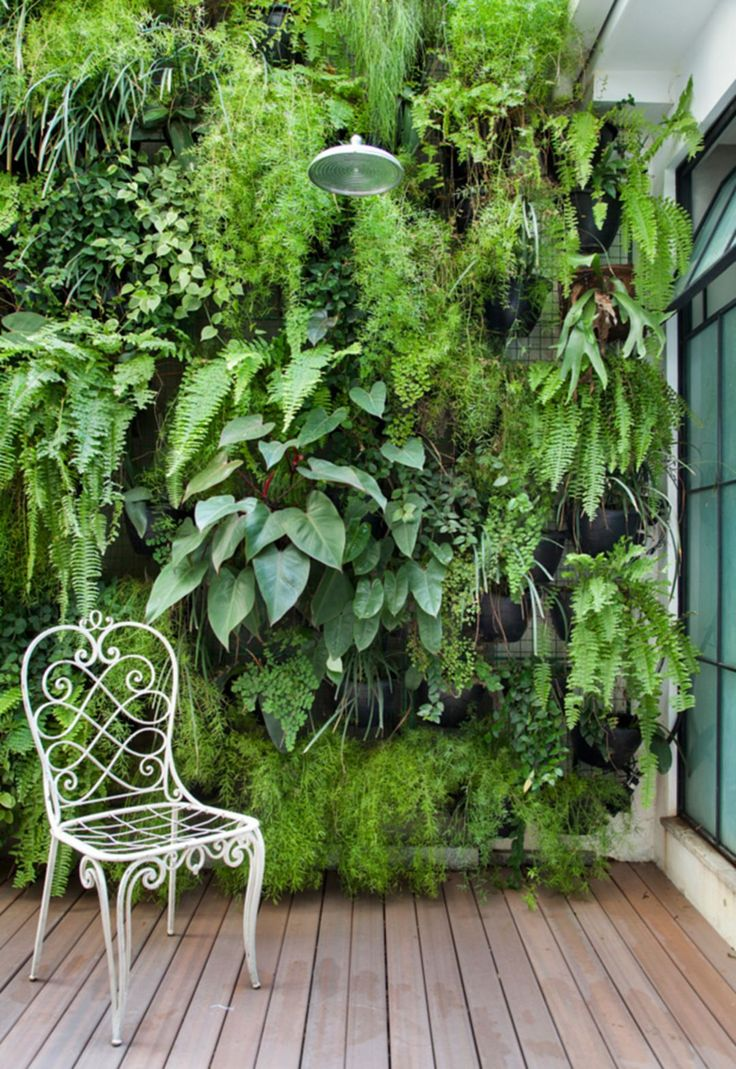 Vertical garden design with orchids space saving backyard landscaping - 125 Stunning Vertical Garden Ideas To Make Your Home Fresh And Cool