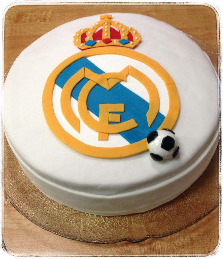 My sons 14:th birthday #cake, Real Madrid cake, cookiesandsweets.blogg.se