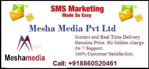 Instant or Real-Time Delivery, Genuine Price. No hidden charge, 24/7 Support, Easy to Use Web-based User Tool. Mesha Media is leading bulk SMS service company in Delhi NCR