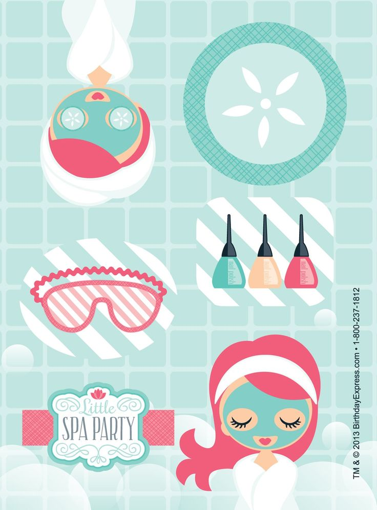 Little Spa Party Sticker Sheets, 88328