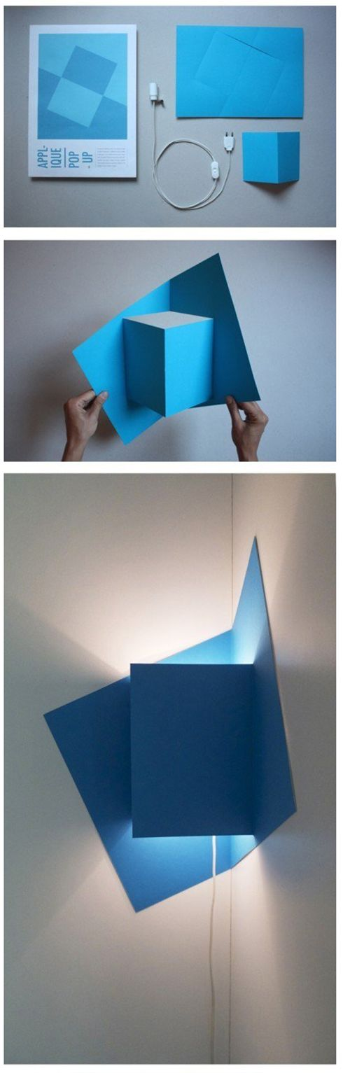 Great light idea, I just love folded paper....