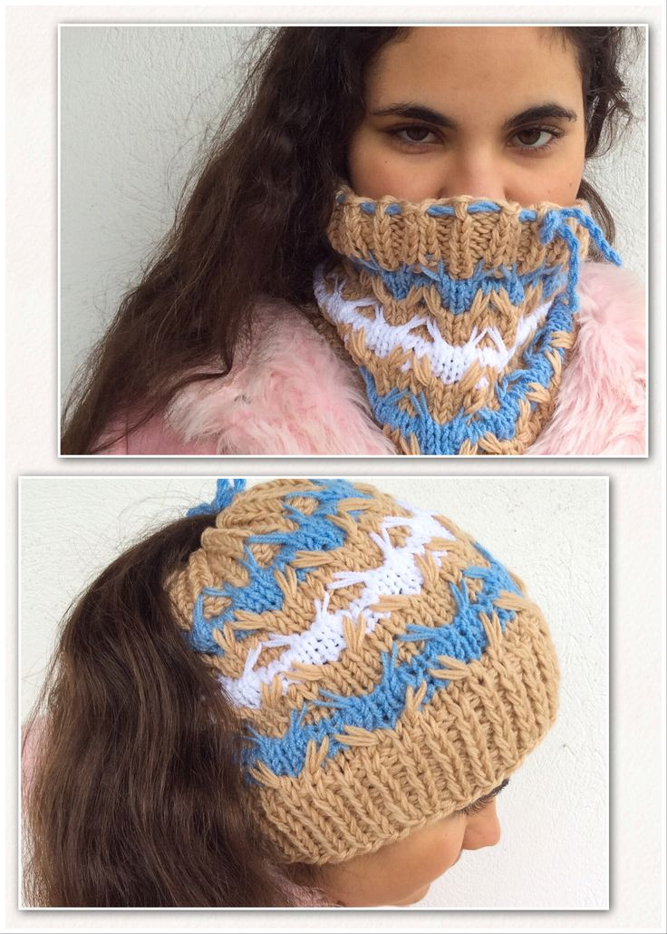Excited to share the latest addition to my #etsy shop: Bun Beanie Neck Warmer Top Knot Bun Hat Adjustable Beige Winter Messy Bun Hat Gift Viral Bun Hat Birthday Gift for Her Knitted Bun Beanie