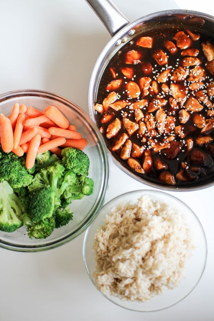 Asian style chicken, veg, and rice. Easy weeknight dinner or great ...