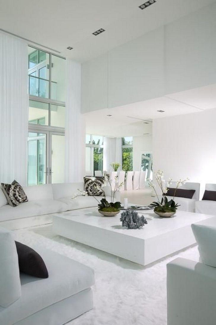 45 Beautiful Modern Black White Living Room Inspired 35 Modern White Living Room White Living Room Living Room Modern