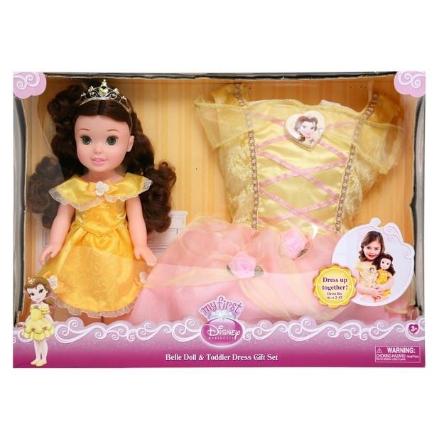 Disney Princess Toddler Doll With Dress: Disney Princess Belle Doll And Toddler Dress Gift Set
