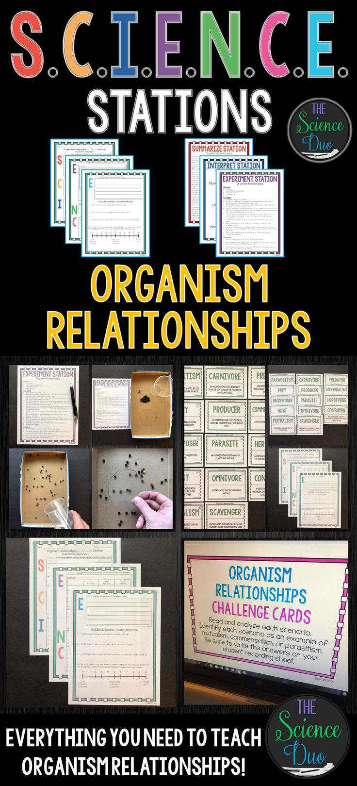 This Organism Relationships S C I E N C E Station Activity Includes Activities On Types Of Consumers Pred Organism Relationships Relationship Science Science [ 1619 x 736 Pixel ]