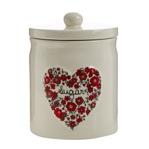 At home with Ashley Thomas Ceramic heart 'Sugar' jar- at Debenhams Mobile