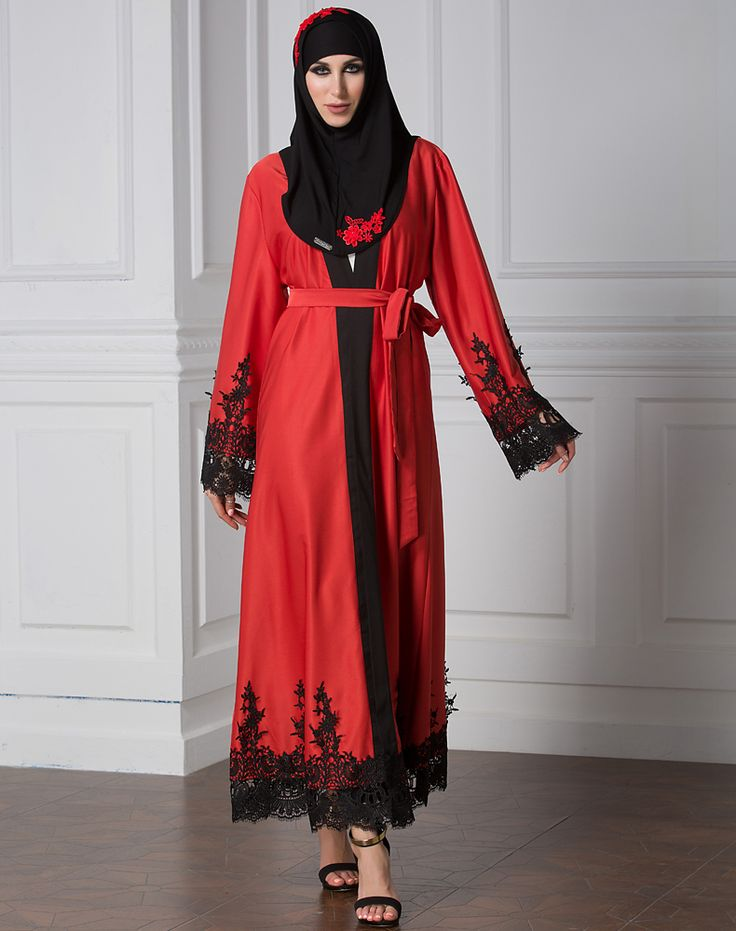 2017 Women Muslim Lace Dress Embroidery Cardigan Dubai Abaya Dress Patchwork Islamic Clothing Elegant Turkish Robe #Islamic clothing http://www.ku-ki-shop.com/shop/islamic-clothing/2017-women-muslim-lace-dress-embroidery-cardigan-dubai-abaya-dress-patchwork-islamic-clothing-elegant-turkish-robe/
