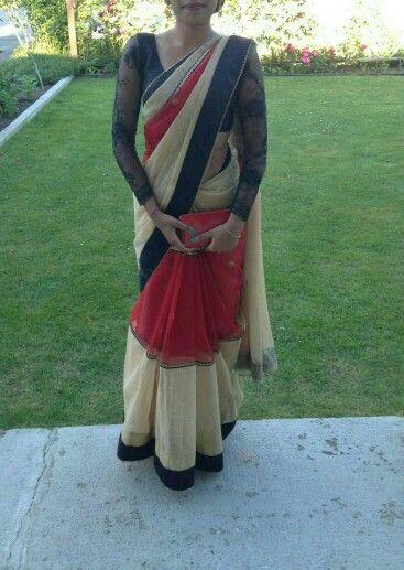 black lace long sleeve saree blouse