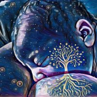 Tree of life breastfeeding selfies are trending. Here's how to create your own keepsake photo. #breastfeedingart #GCBC