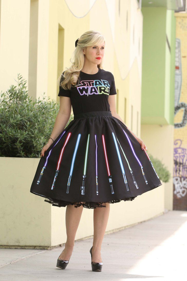 Pin for Later: The Best Star Wars Gifts Under $100 in This Galaxy Clothes Lightsaber Skirt ($75)