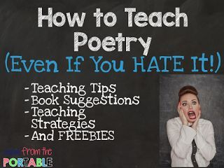 Great tips on teaching poetry (even if you HATE it).  Walked away from all of this information with the tools I needed to teach poetry.  My students LOVED it and I ended up loving poetry too!