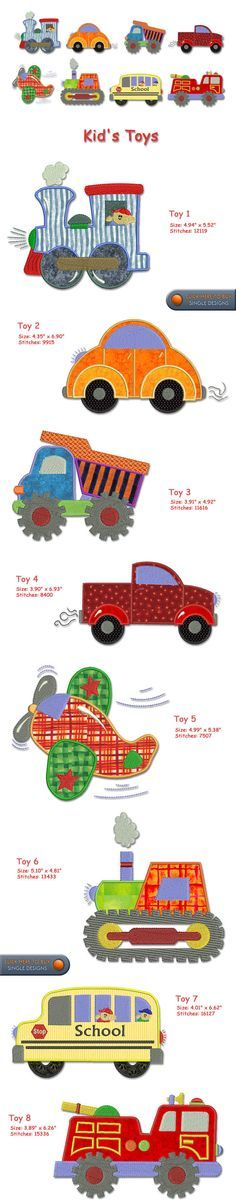 TOYS Embroidery Designs Free Embroidery Design Patterns Applique