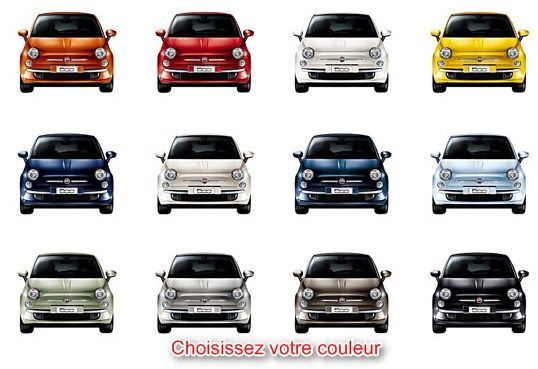 choix de couleur fiat 500 leasing fiat pinterest fiat pop fiat 500 and pop. Black Bedroom Furniture Sets. Home Design Ideas