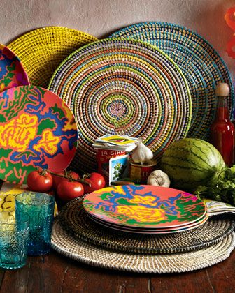Four Handwoven Place Mats by Europ\'Africa at Horchow.