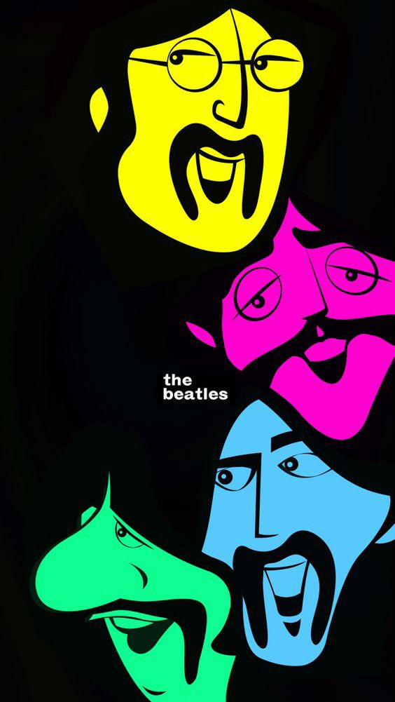 The Beatles psicodelia   Fondo para celular