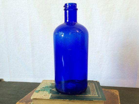 Vintage Auto Polish Bottle No 3  Cobalt by LavishMaidenVintage $22.00 https://www.etsy.com/listing/221606528/vintage-auto-polish-bottle-no-3-cobalt