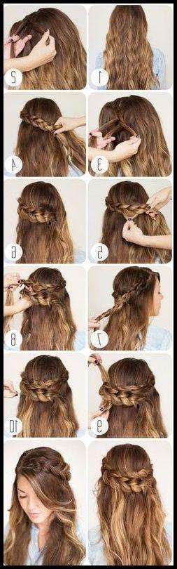 15 süße 5-Minuten-Frisuren für die Schule | peinados | Pinterest … | #langh…   – Einfache Frisuren
