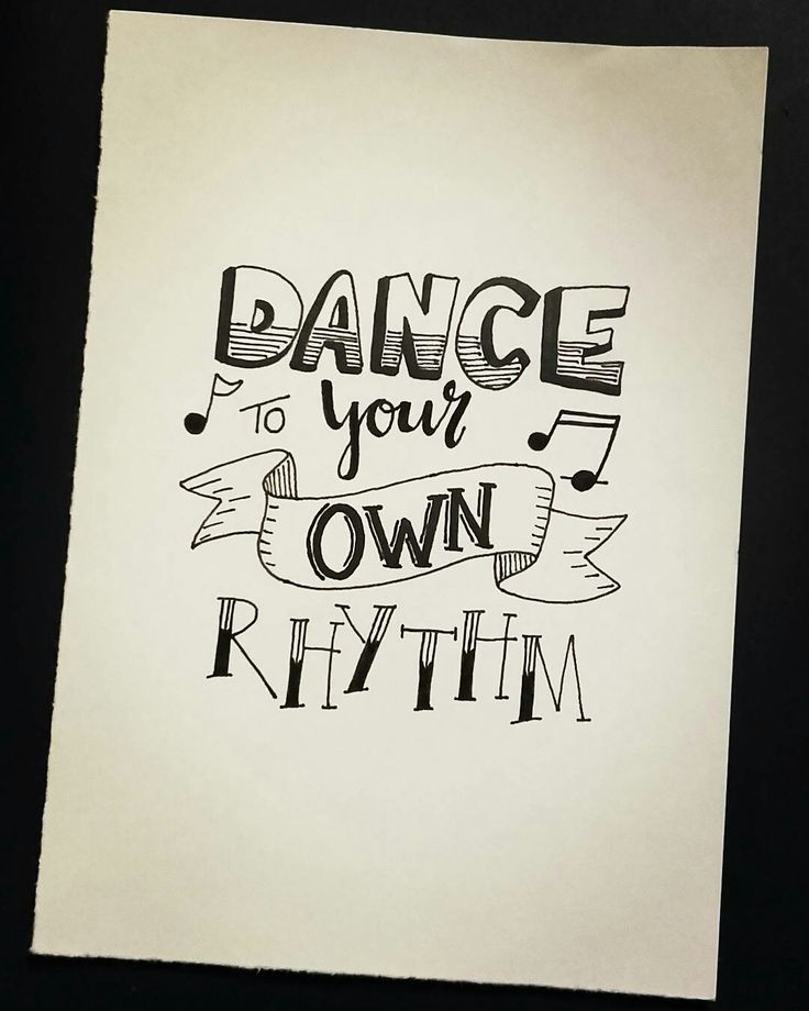 Handlettering - dance your own rhythm