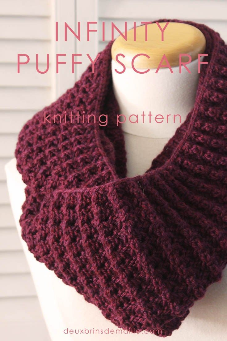 241 best golas de trico images on pinterest knitting patterns knitting pattern infinity puffy scarf with this cowl you can make 1 or 2 bankloansurffo Gallery