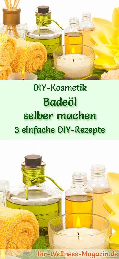 DIY-Kosmetik-Rezepte: Badeöl selber machen - Was gibt es Schöneres in der kalten Jahreszeit als ein kuscheliges Vollbad, das wunderbar entspannt und ... #diy #selbermachen #körperpflege #kosmetik #naturkosmetik