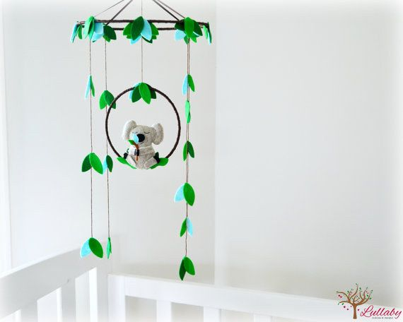 This felt koala mobile will set the scene for the sweetest of Australian dreams. | 19 Etsy Finds For The Cutest Australian Baby's Bedroom