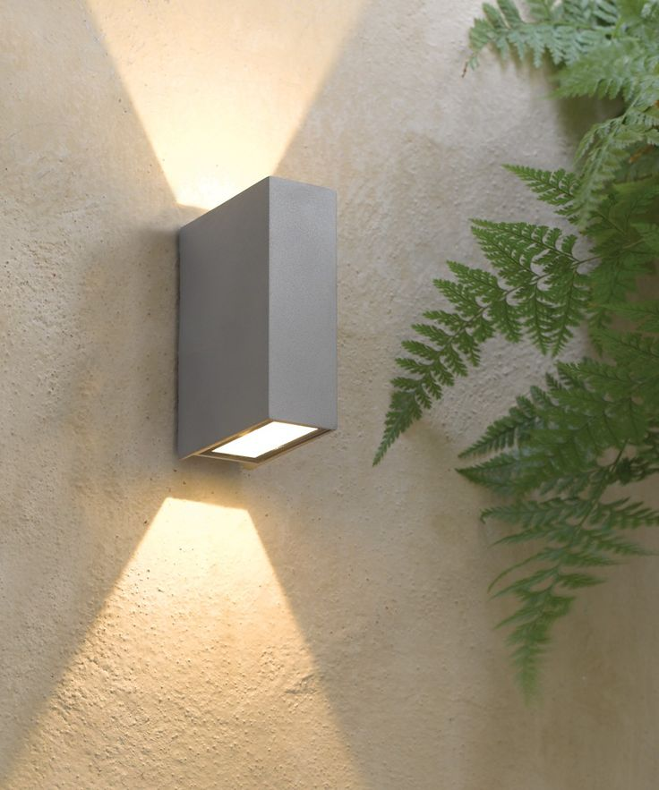 LEDlux Vice 6W Square Up/Down Wall Bracket in Silver | Alfresco Lighting | Outdoor Lighting | Lighting