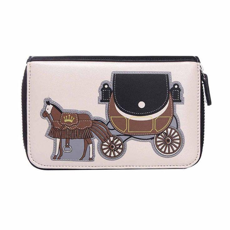Intrigue Portemonnaie Pferdekutsche schwarz/creme