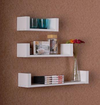 Полка горизонтальная настенная Горизонтальная настенная полка с боковыми ограничителями - для хранения книг и других предметов