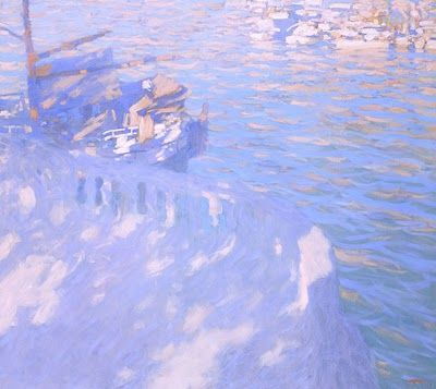 At the Seaside, by Russian Artist Bato Dugarzhapov