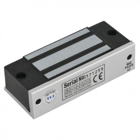 Mini electromagnet de forta aplicat YM-70-S. YM-70-S este un mini electromagnet aplicabil de 70 kgf, cu dimensiuni de 90x33x20 mm. Consum: 300mA/ 12 Vcc 160mA/ 24Vcc Alte caracteristici: monitorizare