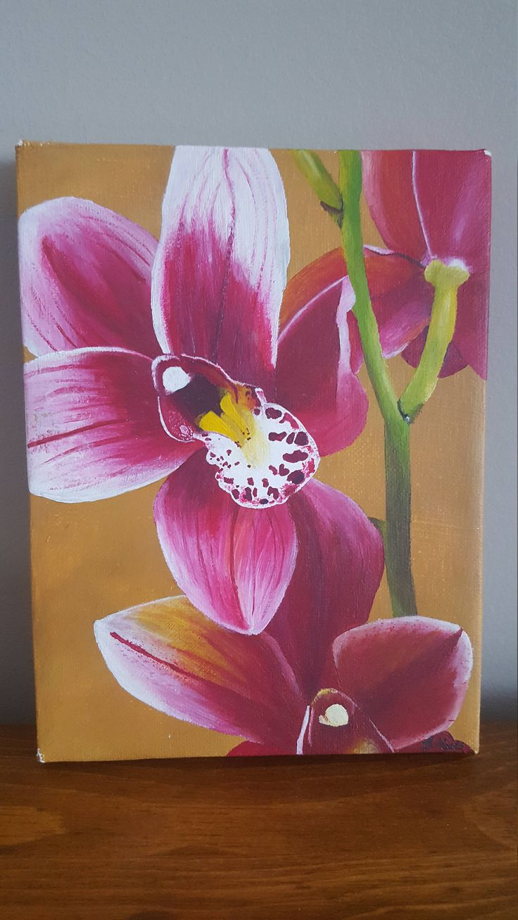 Lilly Painting http://etsy.me/2DnBeGJ #art #painting #handpainted #lilly #flower #pink #acrylic #canvas #craftsrhus