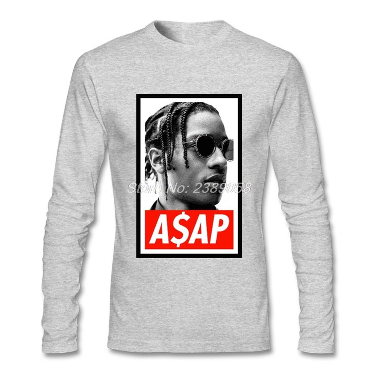 Fashion Style Men tshirt ASAP Rocky Cheap High Quality Hip Hop Shirt Tops Cotton Long Sleeve T Shirts Mens #Affiliate