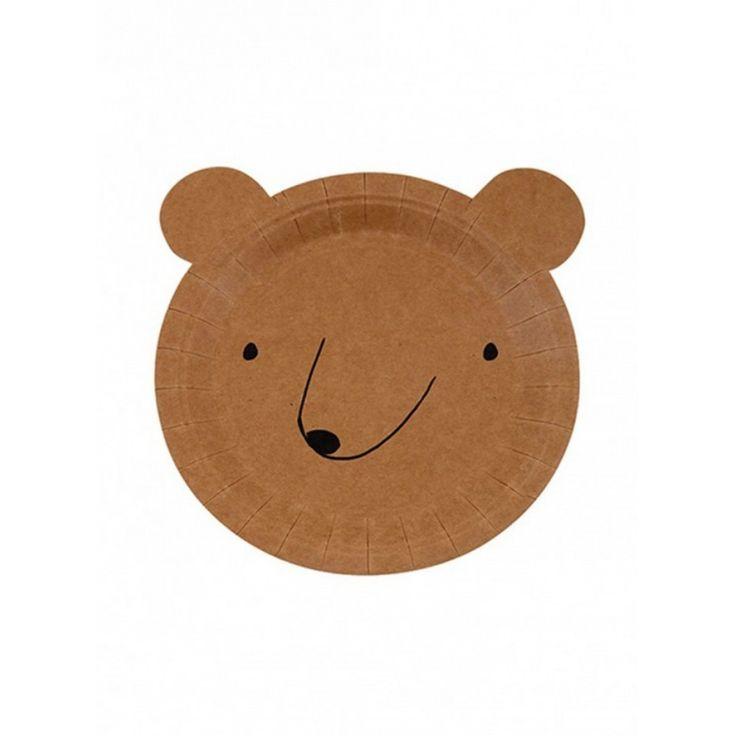 Meri Meri Χάρτινο Πιάτο για παιδικό παρτυ - Αρκούδα