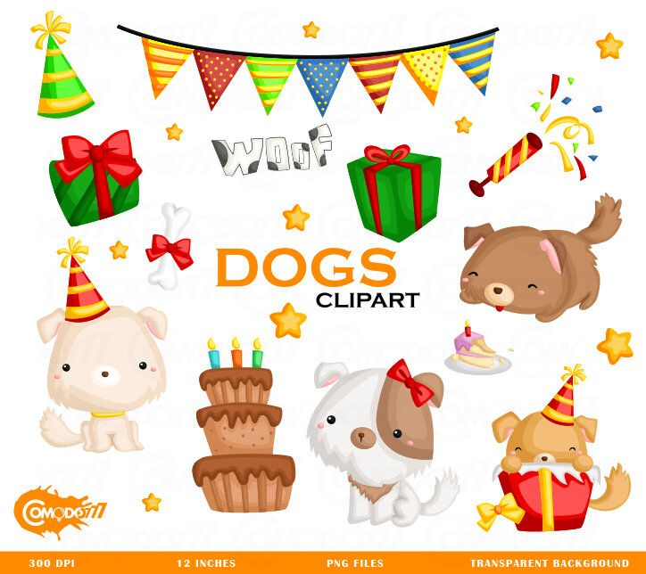 50%OFF!! Birthday Dogs Clipart - Cute Clipart, Dogs Clipart, Birthday Clipart, Clipart Set, Adorable Digital Clip Art by Comodo777Design on Etsy https://www.etsy.com/uk/listing/519230597/50off-birthday-dogs-clipart-cute-clipart