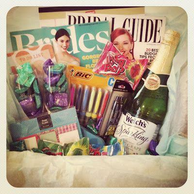 Wedding Gift Basket Notes : ... gift baskets on Pinterest Engagement gifts, Engagement basket and