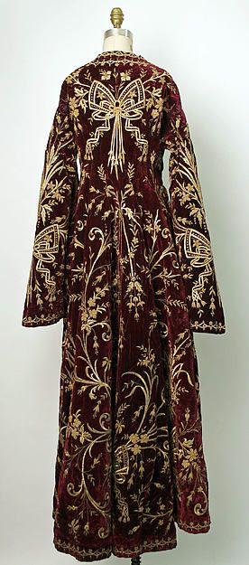 Robe Date: mid-19th century Culture: Turkish Medium: silk, cotton, metallic Dimensions: Length at CB: 60 in. (152.4 cm)