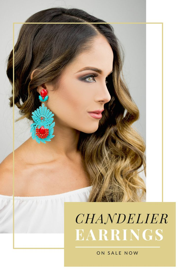 Long Turquoise chandelier earrings are the perfect accessories for a casual setting.