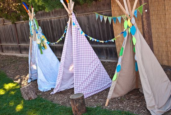 Teepee Village: The official Indian teepee camp.  Source: Miss Party Mom Can't have a Peter Pan Party without Teepee's!!