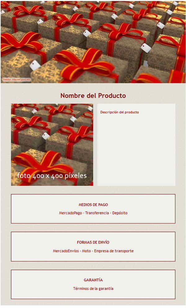 Plantilla responsive gratuita para MercadoShops y MercadoLibre Servicios #mercadolibre #plantilla #gratis #mercadoshops #responsive #html #gratis #internetparavos