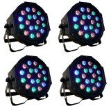 http://ift.tt/1L9kPDp I3C 4pcs 18 x 3W RGB PAR64 DMX LED Party Stage Effect Lights